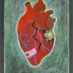 BROKEN HEART  Cape Dorset, 2010  Oil stick, 44 x 30""