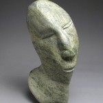GOD FORGIVES; PEOPLE DON'T  Cape Dorset, 2011  Stone, 14 x 7 x 4""